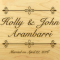 Bliss 9x12 Grooved Personalized Cutting Board