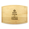 Keep Calm 9x12 Grooved Engraved Cutting Board