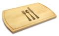 Knife Fork Spoon 10x16 Grooved Custom Cutting Board