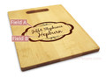 Moderna 10x16 Handle Engraved Cutting Board