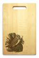 Owl 10x16 Handle Custom Cutting Board