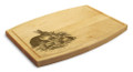 Rabbit Family 9x12 Grooved Cutting Board