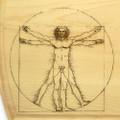 Vitruvian Man 10x16 Grooved Custom Cutting Board