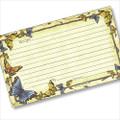 3 x 5 Butterflies & Bees Recipe Card
