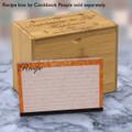 4x6 Recipe Card Velvet Vintage Wallpaper Orange 40ea