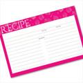 4x6 Recipe Card Pinkalicious Cupcake Pattern 40ea