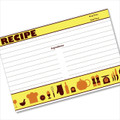 4x6 Recipe Card Retro Icon Yellow 40ea
