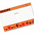 4x6 Recipe Card Retro Icon Orange 40ea