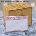 4x6 Recipe Card Lace Settings Light Pink 40ea