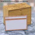 4x6 Recipe Card Agatha Tangerine Orange 40ea