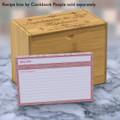 4x6 Recipe Card Agatha Pretty Pink 40ea