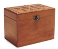 Gutenberg Abandon Diet Personalized Cherry 4x6 Recipe Card Box