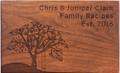 Tree Swing Personalized Cherry 4x6 Recipe Card Box