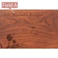 Dandelion Personalized Cherry 4x6 Recipe Card Box