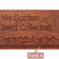 Garden Love Personalized Cherry 4x6 Recipe Card Box