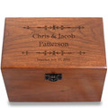Ironwork Personalized Cherry 4x6 Recipe Card Box