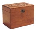 Moderna Personalized Cherry 4x6 Recipe Card Box