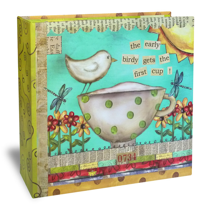 Half Page Recipe Organizer - Color My World Blue & Green