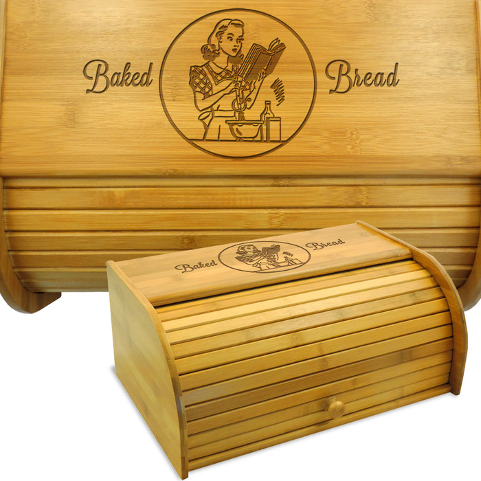 Miss Mixer Bamboo Bread Box