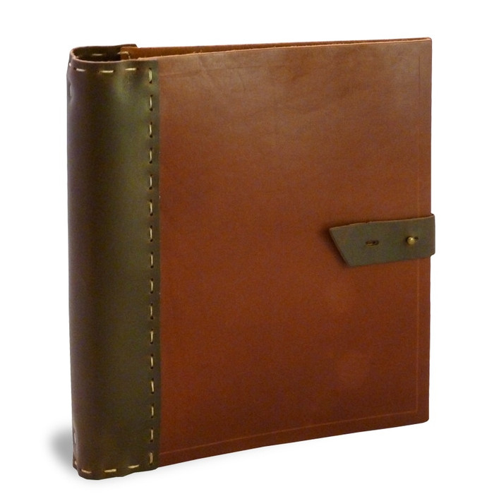 Full Page Rustic Saddle Leather Recipe Binder - Hand-Made in USA