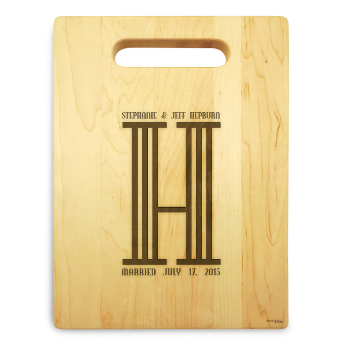 Columns 9x12 Small Personal Cutting Board Handle Maple Wood