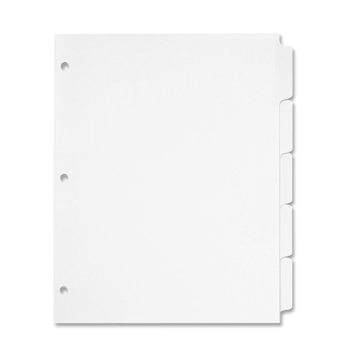 Half Page 5.5x8.5 Binder Tab Dividers