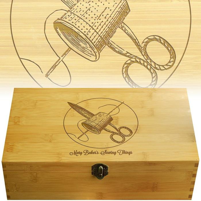 Sewing Multikeep Box Bamboo