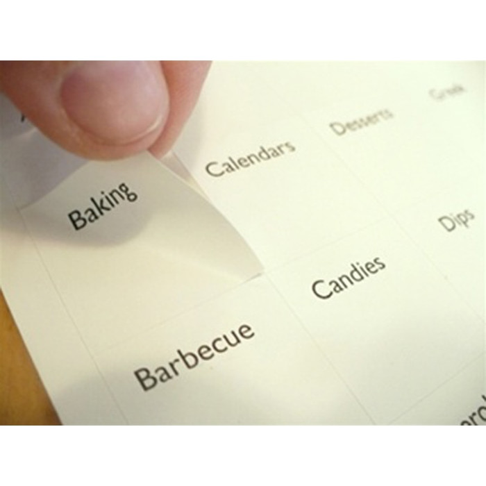 Tab Divider Labels for Recipe Binders & Boxes