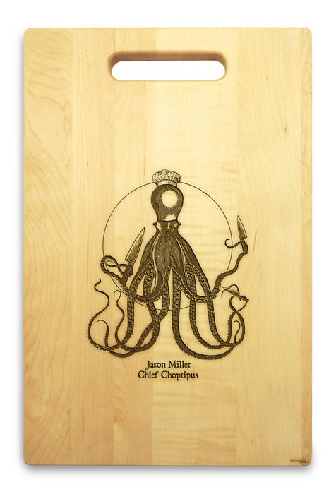 Choptipus 10x16 Handle Custom Cutting Board