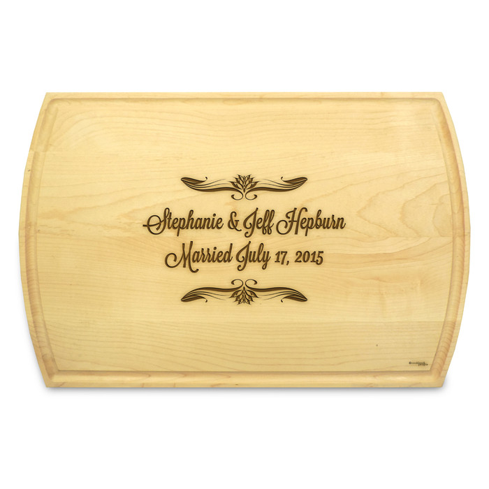 Forever After 10x16 Grooved Cutting Board