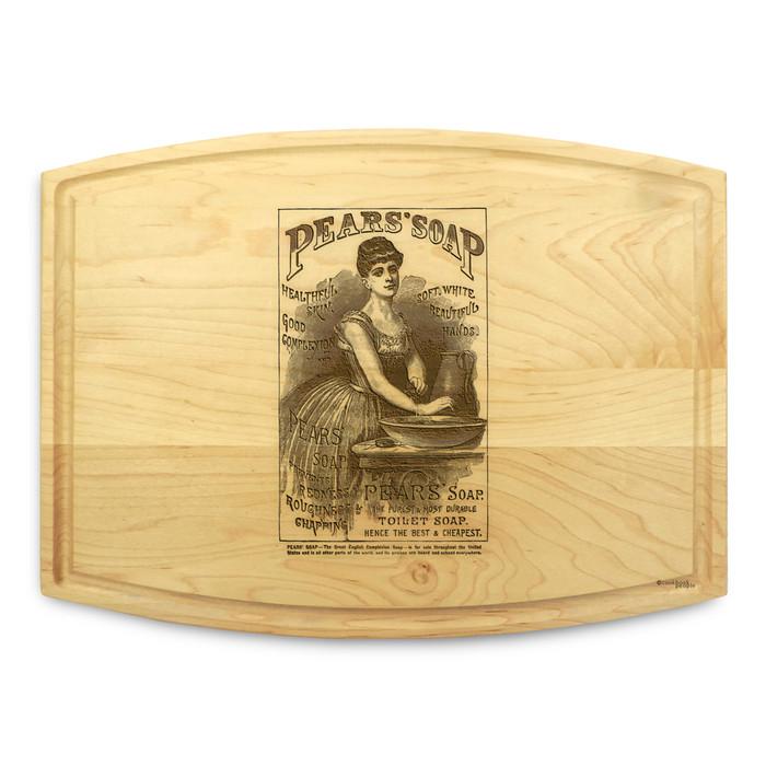 Pears Soap 9x12 Grooved Custom Cutting Board