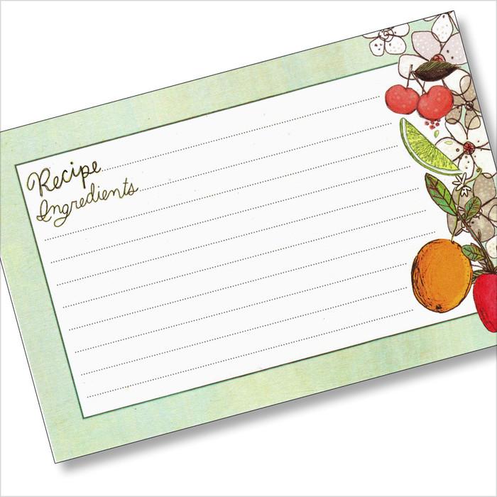 4x6 Fruit Fusions Recipe Card 40ea