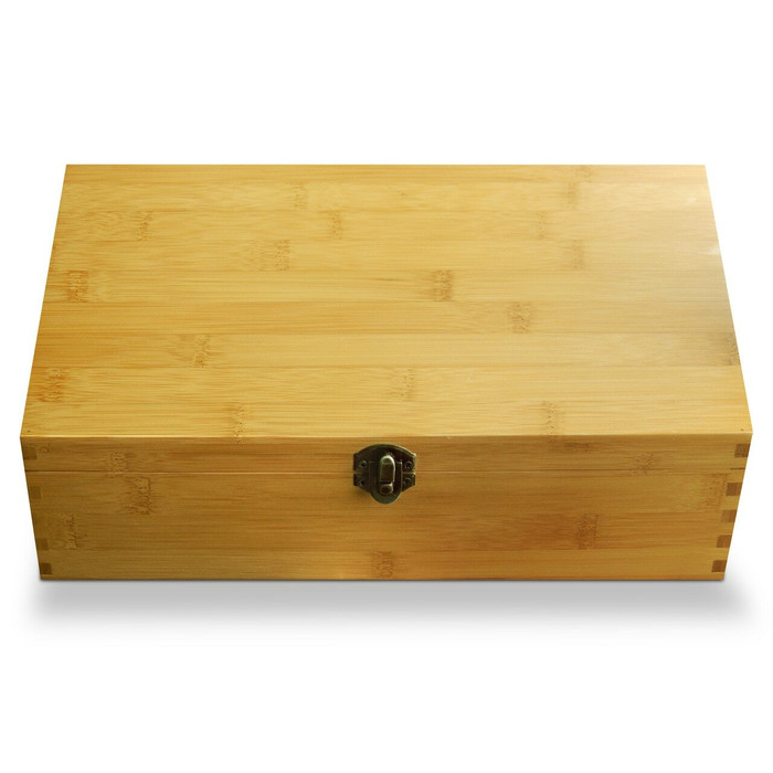 Bamboo Adjustable Multikeep Tea Box No Engraving