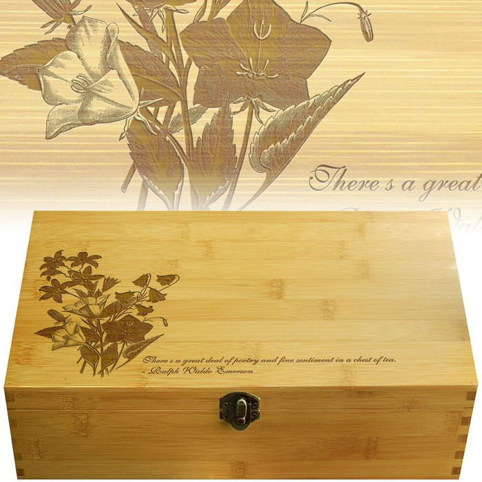 Bellflower Bamboo Multikeep Wood Box