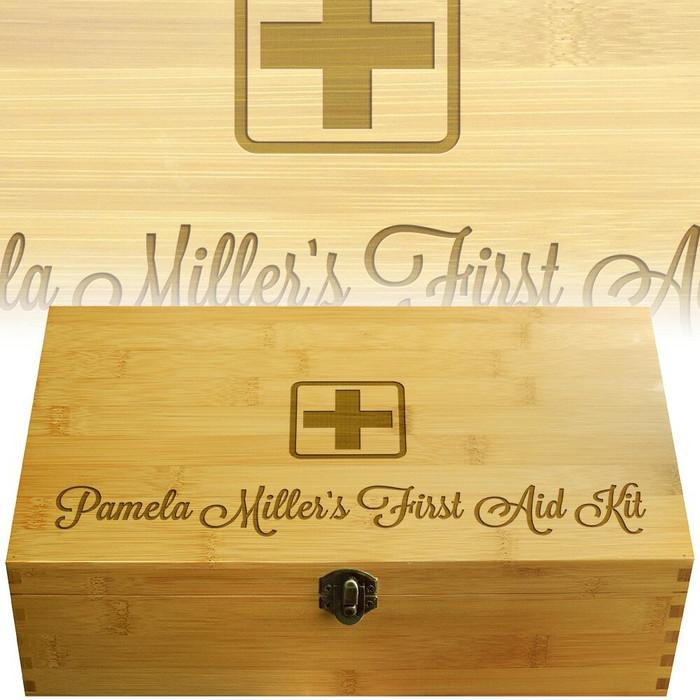 First Aid Script Multikeep Wood Gift Box