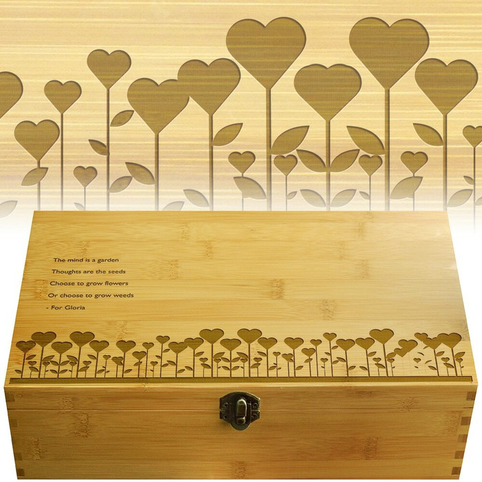 Garden Love Multikeep Personally Monogrammed Box