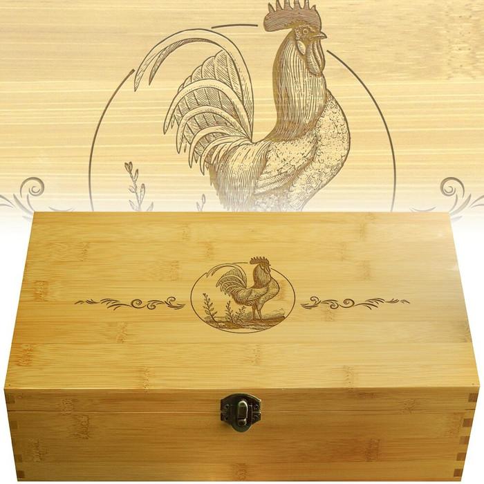 Rooster Multikeep Tea Box