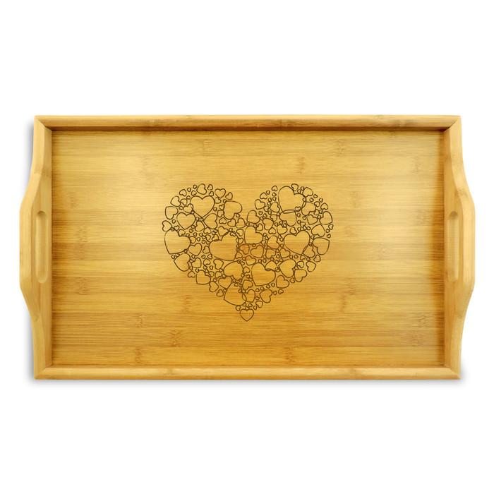 Hearts Wood TV Tray