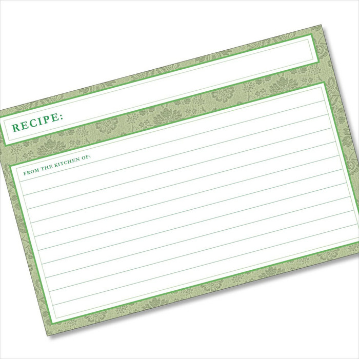 4x6 Recipe Card Agatha Avocado Green 40ea