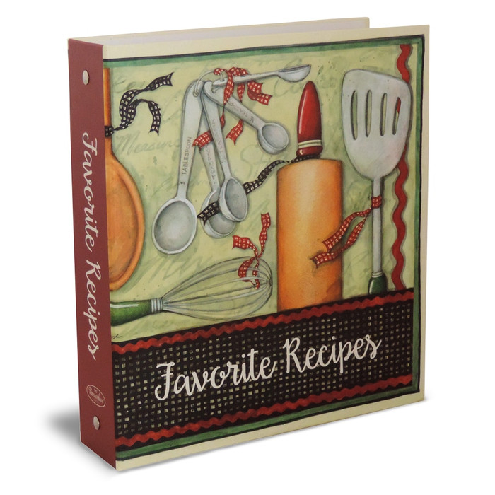 Half Page Recipe Card Binder-Cook with Love