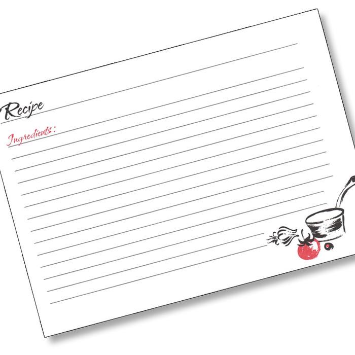 versatile recipe card black  white  red buy online
