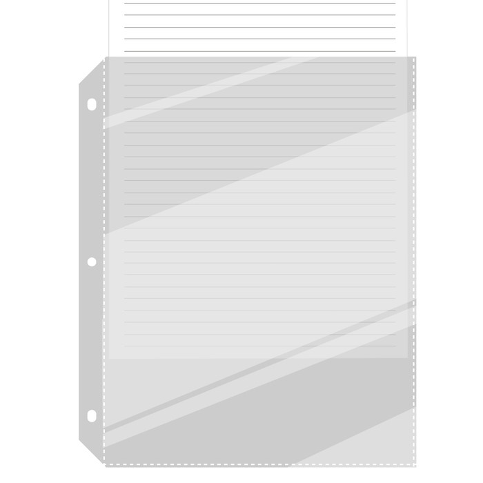 Full Page Sheet Protectors for 3-Ring 8.5x11 Binder 50ea