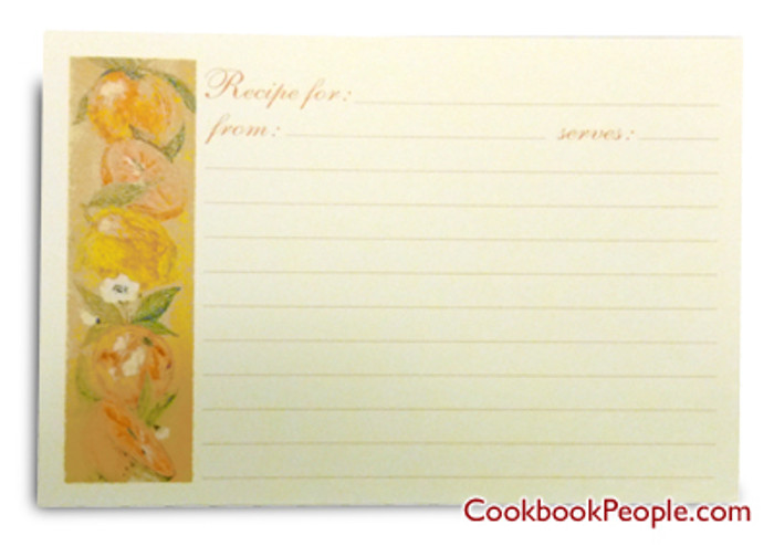 4x6  Recipe Cards - European Garden