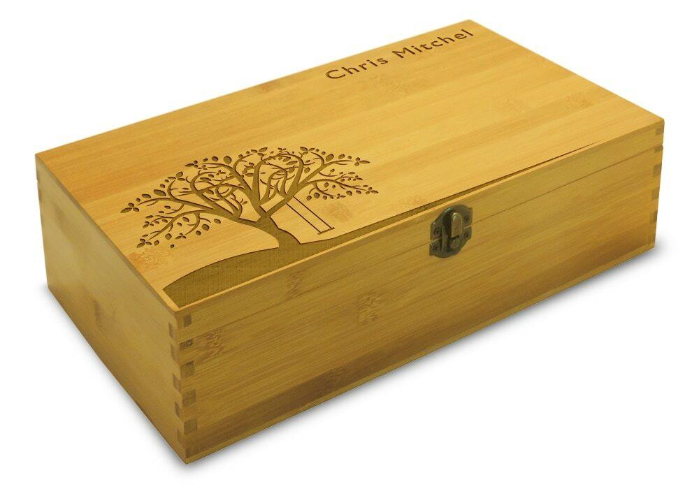 tree swing design on cute tea box organizer box. Black Bedroom Furniture Sets. Home Design Ideas