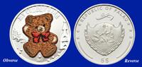 2011 Palau Cuddly Bear $5 Silver Proof