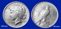 1921 Rare High Relief Peace Dollar XF-BU