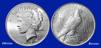 1925 Peace Dollar Uncirculated