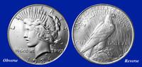 1934 Peace Dollar XF-BU
