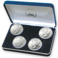 Prohibition Era 4-coin Silver Peace Dollar Set