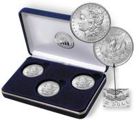 3-Coin Carson City Morgan Silver Dollar Set 1882-1884